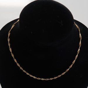 """18""""  10K Gold Chain Necklace w. Lobster Claw Clasp"""